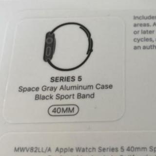 Apple Watch - ♪最安保証 Apple Watch 5 スペースグレー 40mm 新品未開 本体