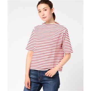 ドットアンドストライプスチャイルドウーマン(Dot&Stripes CHILDWOMAN)のDot&Stripes CHILD WOMAN サーフニットボーダー 5分袖(カットソー(半袖/袖なし))