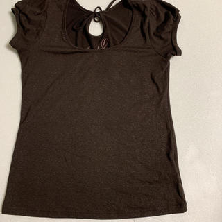 ココディール(COCO DEAL)のココディール ブラウン 半袖カットソー Tシャツ(Tシャツ(半袖/袖なし))