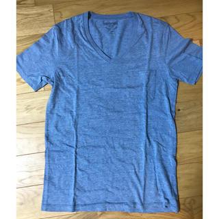 アダムエロぺ(Adam et Rope')のAdam et Rope' ポケット付きTシャツ(水色)(Tシャツ/カットソー(半袖/袖なし))