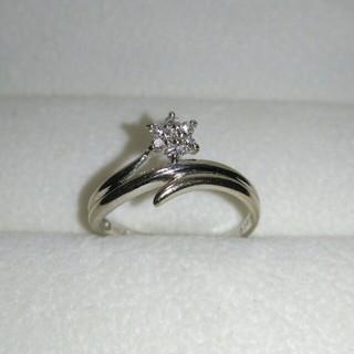 K18 WG ダイヤ 0.10ct 指輪 ダイヤモンド リング