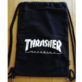 THRASHER - THRASHER スラッシャー ナップサック 黒