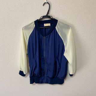 ダブルクローゼット(w closet)のパーカー ジャケット 七分袖 春夏 シースルー(パーカー)