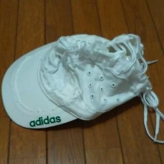 アディダス(adidas)のadidas 帽子白(キャップ)