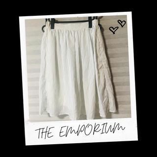 ジエンポリアム(THE EMPORIUM)のthe emporium ジエンポリアム ストライプスカート スカート(ひざ丈スカート)
