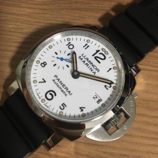 パネライ(PANERAI)のパネライ PAM01523 ホワイト文字盤 美品(腕時計(アナログ))