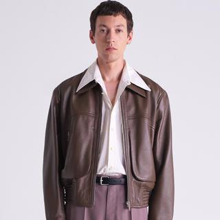 LEMAIRE - LEMAIRE  zipped leather blouson レザージャケット