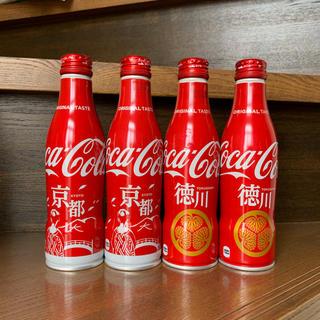 コカコーラ(コカ・コーラ)のコカ・コーラ スリムボトル 地域限定ボトル 京都・徳川デザイン ご当地ボトル(ノベルティグッズ)