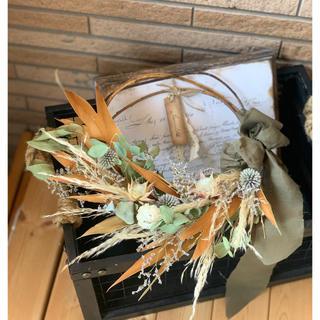パンパスグラスのネイティブドライフラワースワッグ 30cm(リース)