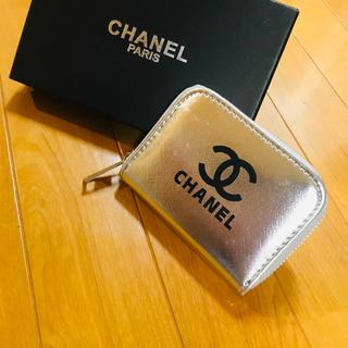 CHANEL - CHANEL ノベルティ 財布 シルバー