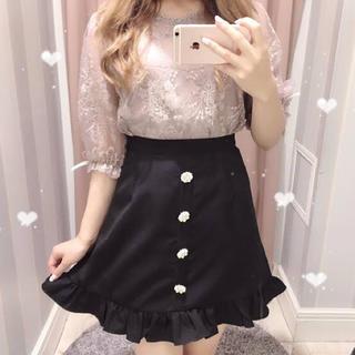 evelyn - evelyn ビジューボタン裾フリルスカート 今期