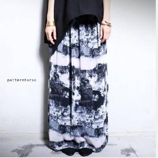 antiqua - 柄ロングスカート