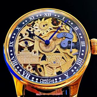 オメガ(OMEGA)の★オメガ フリーメイソン!【OMEGA/手巻き】金彫刻 裏スケ メンズ 腕時計(腕時計(アナログ))