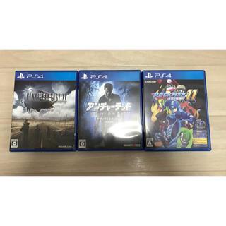PlayStation4 - PS4 3本セット ファイナルファンタジー15 ロックマン11 アンチャーテッド
