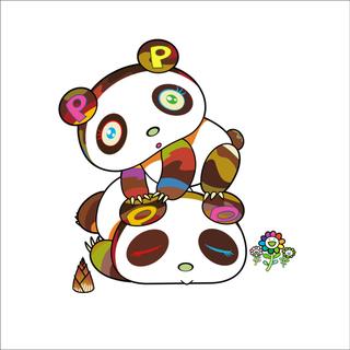 パンダちゃん。ホヨヨ、スヤスヤ。村上隆 版画(版画)