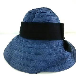 トッカ(TOCCA)のTOCCA(トッカ) ハット ブルー×黒 リボン(ハット)