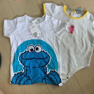 H&M - クッキーモンスターシャツとエルモロンパース