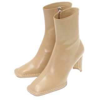 STUDIOUS - CLANE クラネ square stitch slim boots  ブーツ