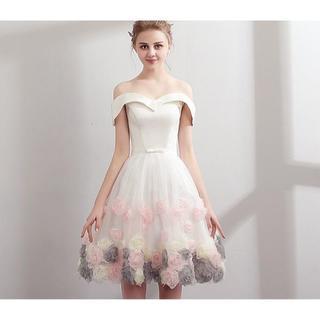 ザラ(ZARA)の340-1花嫁ドレス パーティードレス 二次会ドレス ショートドレス イブニング(ナイトドレス)