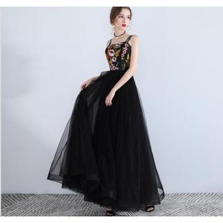 ザラ(ZARA)の338-1 パーティードレス 二次会ドレス ロングドレス イブニングドレス キャ(ナイトドレス)
