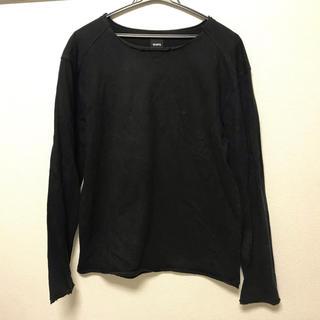 シップス(SHIPS)のships ロンT tシャツ 切りっぱなし加工 シップス 黒 Mサイズ(Tシャツ/カットソー(七分/長袖))