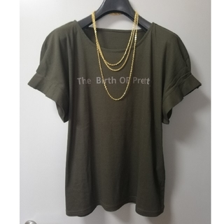 ZARA - 【新品未使用タグ付】大人のTシャツ♪ブラウンカラー