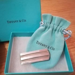 ティファニー(Tiffany & Co.)のタイムセール TIFFANY ティファニー マネークリップ ストライプ 財布(マネークリップ)