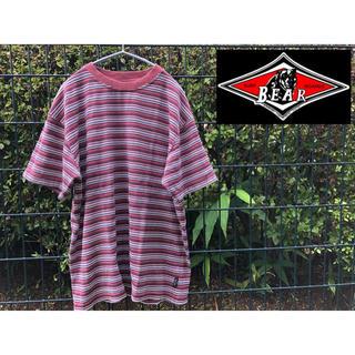 ベアー(Bear USA)の90's BEAR マルチボーダー tシャツ surf boards L(Tシャツ/カットソー(半袖/袖なし))
