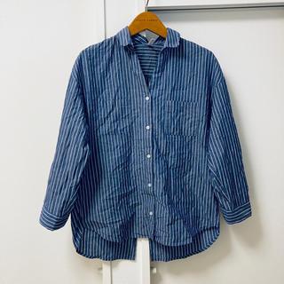 フェリシモ(FELISSIMO)のフェリシモ ストライプ スキッパーシャツ(シャツ/ブラウス(半袖/袖なし))