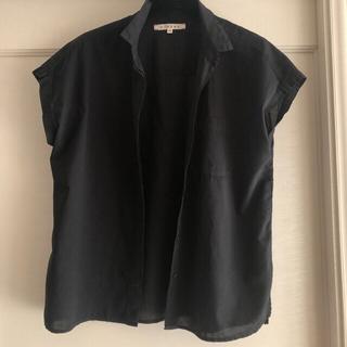 DEUXIEME CLASSE - お値下げ!XIRENA shirt ブラック真夏に涼しげなショートスリーブ