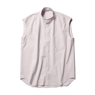 ロンハーマン(Ron Herman)の新品未使用 AURALEE オーラリー ノースリーブブラウス シャツ パープル0(シャツ/ブラウス(半袖/袖なし))