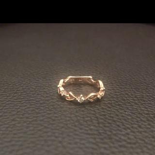 クミキョク(kumikyoku(組曲))の組曲 K10ダイヤモンドピンキーリング ピンクゴールド 3号(リング(指輪))