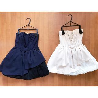 リリーブラウン(Lily Brown)のアシンメトリードレス♡2着まとめ売り!(ミニドレス)