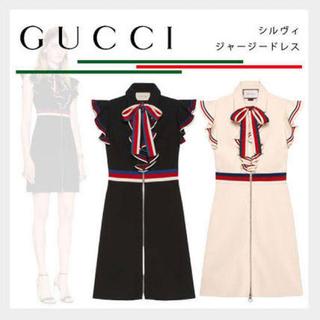 Gucci - GUCCI💓トリコロール💓ワンピース 💓フリル