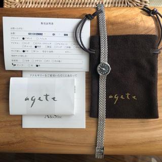 アガット(agete)の【agete】ラウンドフェイスジュエリーウォッチ (腕時計)