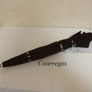 クレージュ(Courreges)のタグ付き未使用クレージュCourreges♡UVカットクレージュ柄日傘(傘)