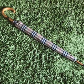 バーバリー(BURBERRY)の⭐️美品⭐️バーバリーBurberry 長傘 高級ライン60cm カバー付き⭐️(傘)