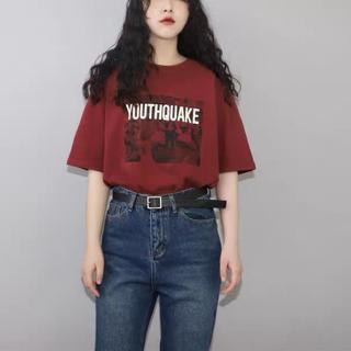 dholic - 夏服レディース ハイウエストストレート ジーンズ デニムパンツ 韓国ファッション