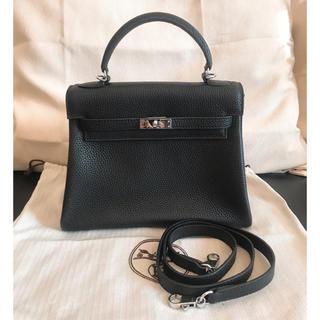 Hermes - エルメス ケリー 25 内縫い ブラック シルバー金具 ハンドバッグ ショルダー