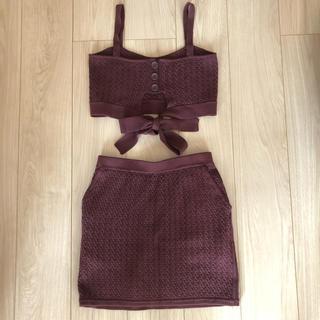 スライ(SLY)の【SLY】セットアップ  ワインレッド スカート サイズ2(セット/コーデ)