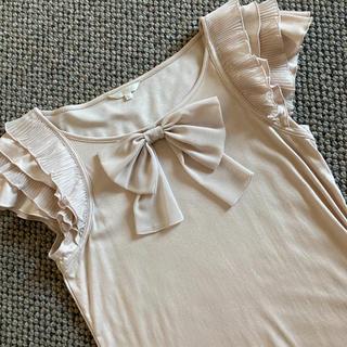 トゥービーシック(TO BE CHIC)の美品 トゥービーシック お袖が可愛いフリルカットソー(カットソー(半袖/袖なし))