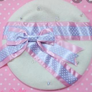 アンジェリックプリティー(Angelic Pretty)のAngelic Pretty Ribbon de Parisベレー(ハンチング/ベレー帽)