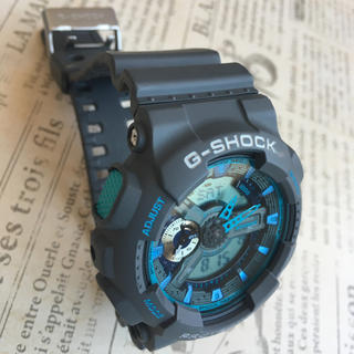 ジーショック(G-SHOCK)のG-SHOCK  グレー×ターコイズブルー(腕時計(デジタル))