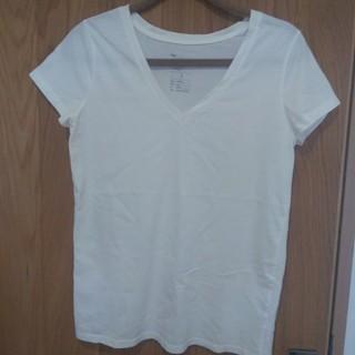 ギャップ(GAP)のGAP Vネック 白Tシャツ(Tシャツ(半袖/袖なし))