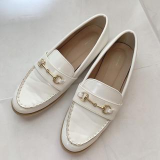メルロー(merlot)のmerlot plus/メルロープリュス/ビットローファー/ホワイト/白(ローファー/革靴)