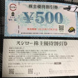 スシロー株主優待割引券 6枚 くぼぼ様専用(レストラン/食事券)