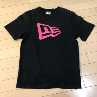 ニューエラー(NEW ERA)のNEW ERA ニューエラ Tシャツ 黒 ピンク ロゴ M(Tシャツ/カットソー(半袖/袖なし))
