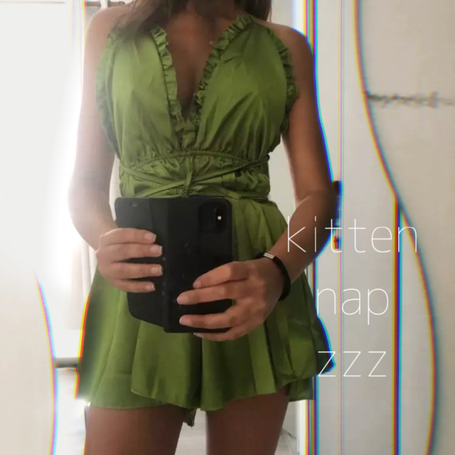 Ravijour(ラヴィジュール)のお値下げ不可 ◯オールインワンランジェリー◯  ベージュ ルームウェア リボン レディースのルームウェア/パジャマ(パジャマ)の商品写真