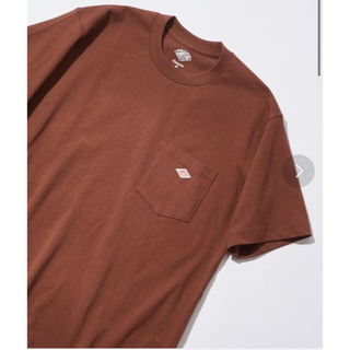 DANTON - DANTONダントン40サイズ14/-空紡天竺半袖胸ポケロゴTシャツブラウン新品