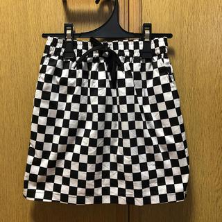 WEGO - WEGO チェッカーフラッグ スカート